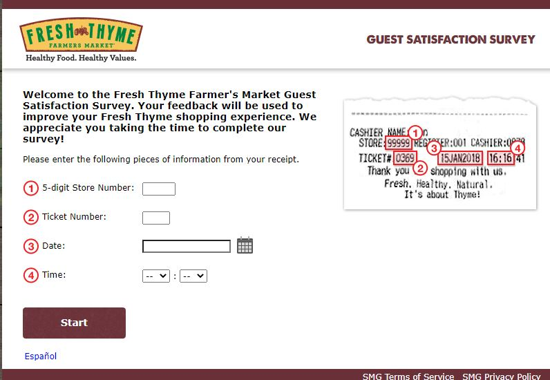 Fresh Thyme Farmers Market Survey