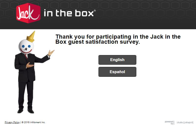 jack in the box validation code