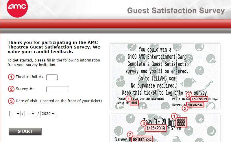 AMC Theatres Customer survey