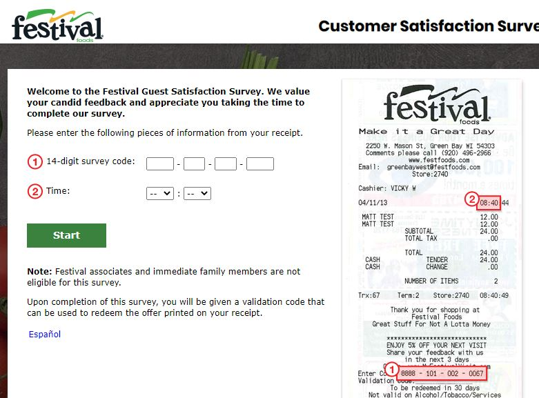 Festival customer survey