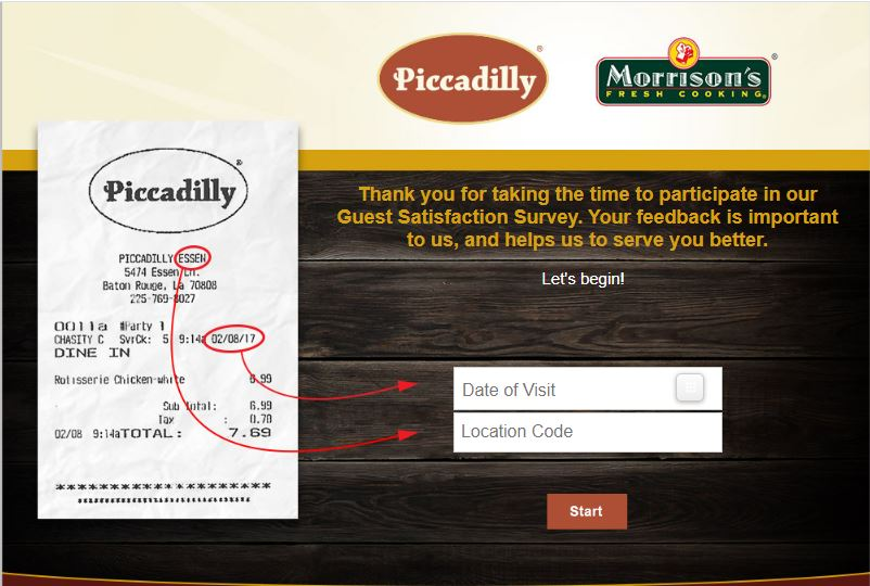 Piccadilly Guest Satisfaction Survey