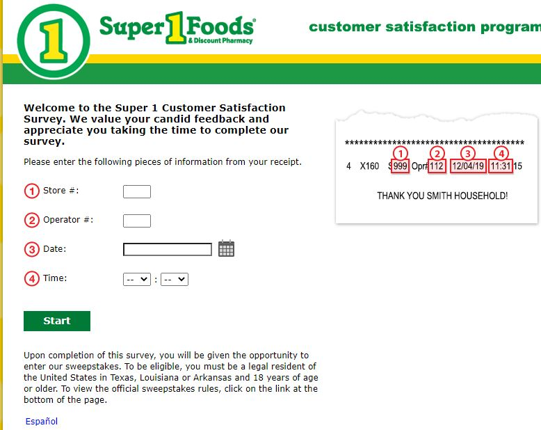 Super One Foods Customer survey