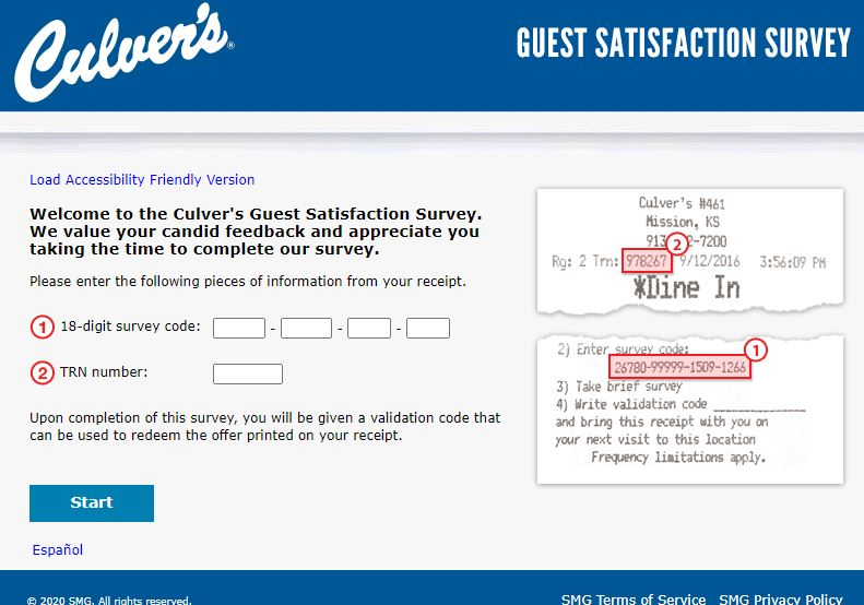 culvers validation code