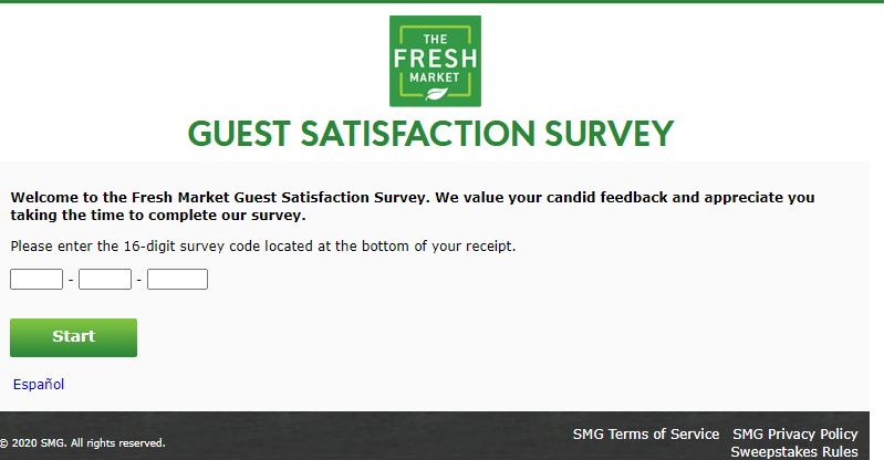 fresh market customer experience survey