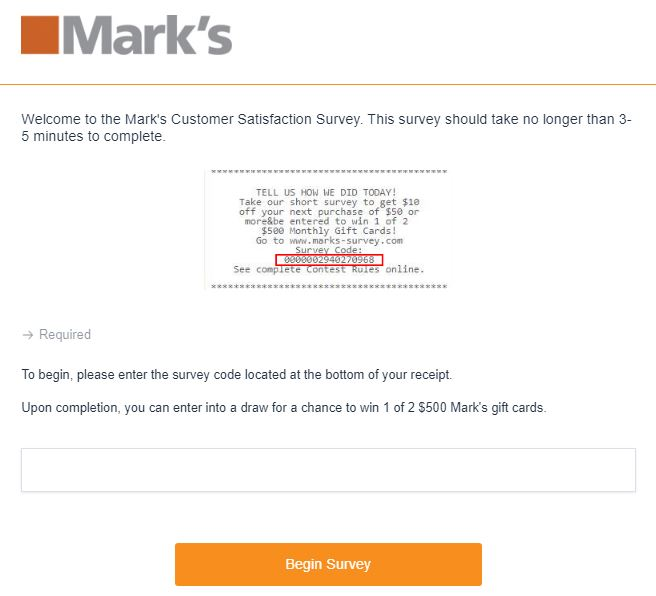 Marks Survey