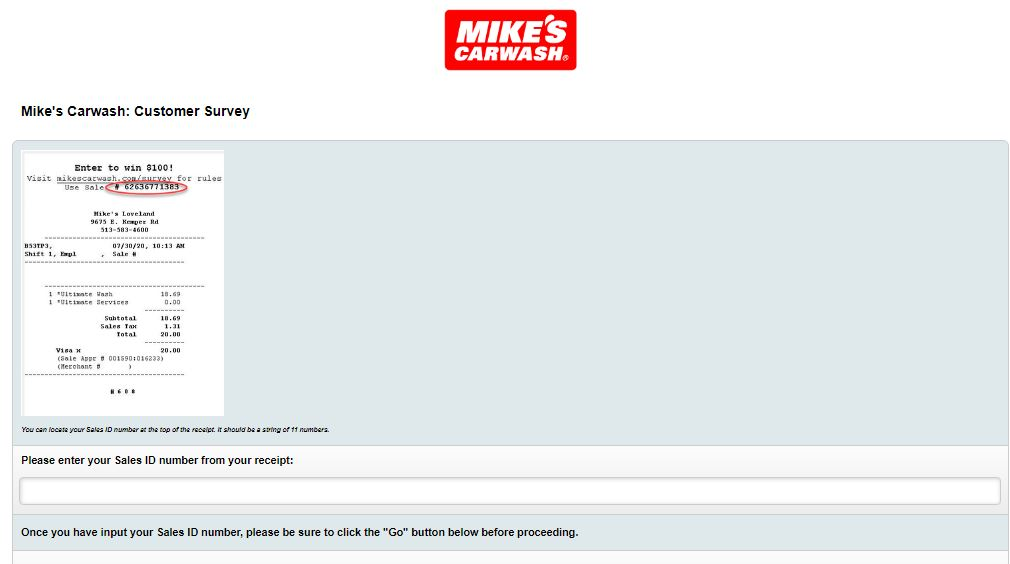 Mikes Carwash survey