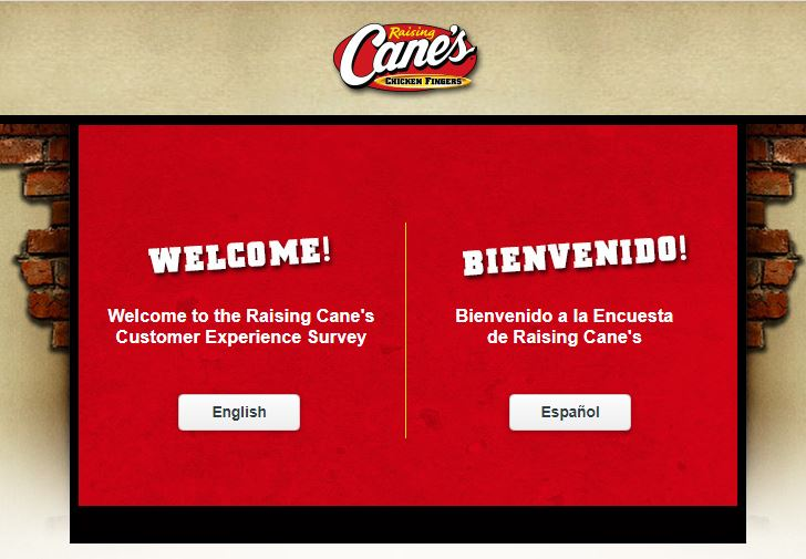 Raising Canes survey