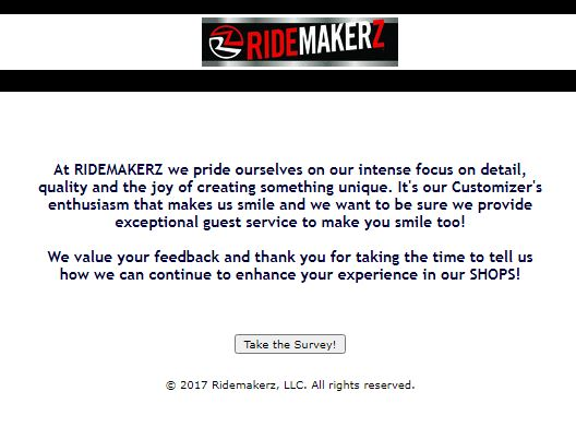 Ridemakerz survey