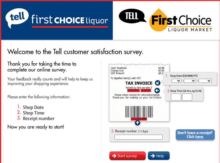 FIRST CHOICE liquor survey