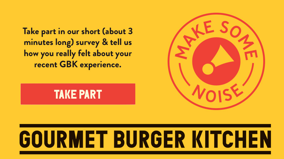 Gourmet Burger Kitchen survey