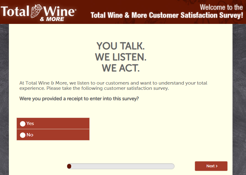 Total Wines survey